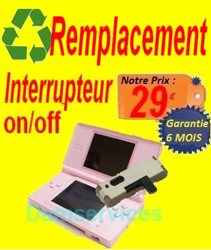 REMPLACEMENT  interupeur onOFF