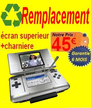 REMPLACEMENT charniere + TOP fat