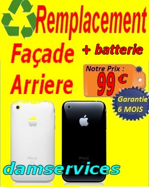 REMPLACEMEN Tfacade arriere IPHONE1